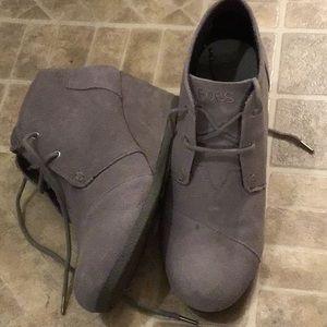 Women's Gray Wedge Booties
